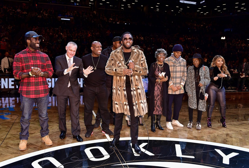 Celebrities Attend New York Knicks Vs. Brooklyn Nets