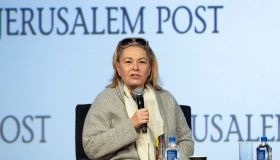 Roseanne Barr interviewed by Dana Weiss during 7th Annual...