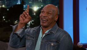 Mike Tyson during an appearance on ABC' Jimmy Kimmel Live!'