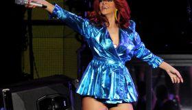 Rihanna Performs At Staples Center