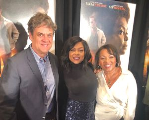 """Taraji P. Henson on Red Carpet for """"The Best of Enemies"""" with Director, Robin Bissell and Producer, Dominique Telson"""
