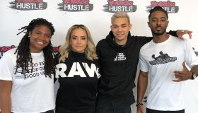 Roshon,TV One Bobby Debarge Story Cast, with The Morning Hustle