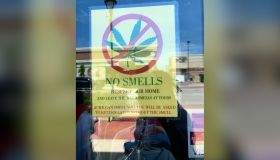 Leave Your Weed Smells At Home - Store Sign