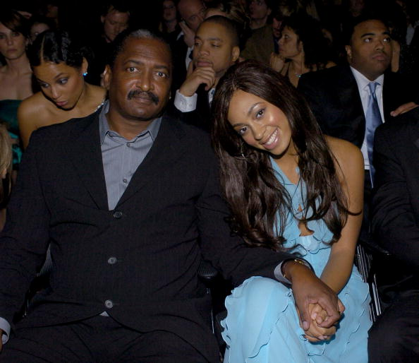 Mathew Knowles and Solange Knowles