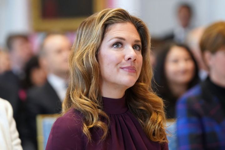 Sophie Grégoire Trudeau, the wife of Canadian Prime Minister Justin Trudeau,