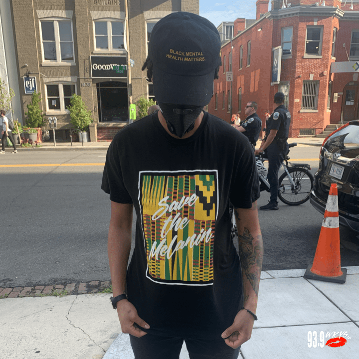 """Save The Melanin"" T-Shirt & ""Black Mental Health Matters"" Hat"