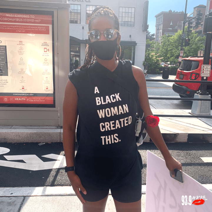 """A Black Woman Created This."" T-Shirt"