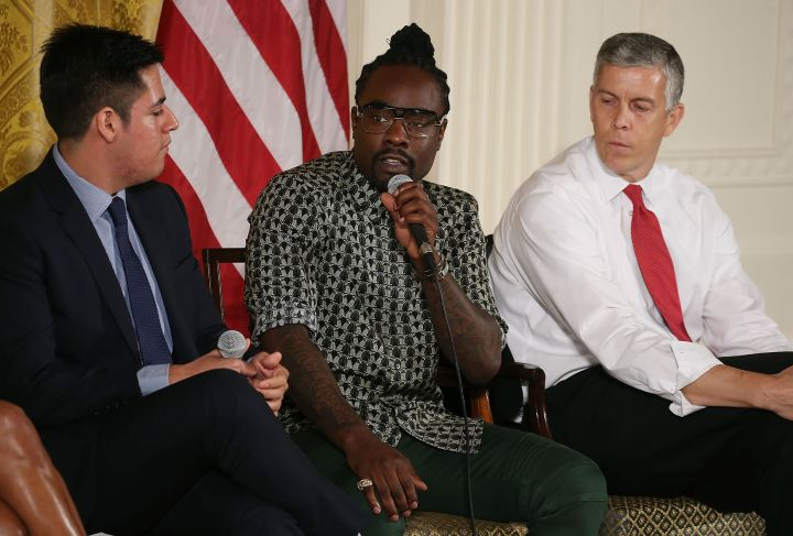 Wale at the 2015 Beating The Odds Summit At White House Hosted By Michelle Obama