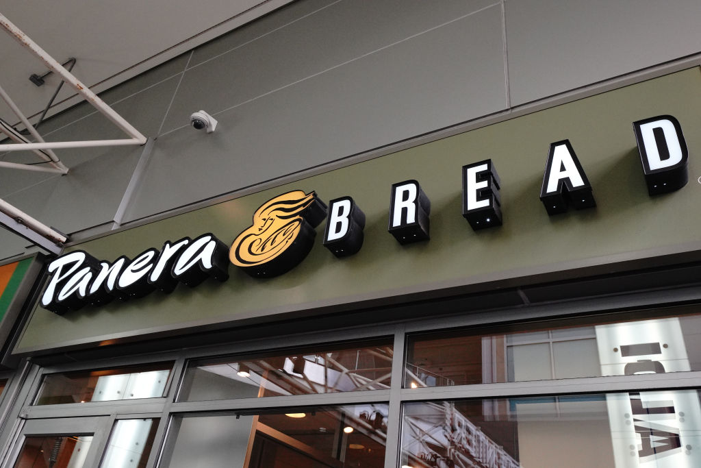 Panera Bread logo in Queens borough...