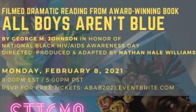 All Boys Aren't Blue Live Reading Flyer