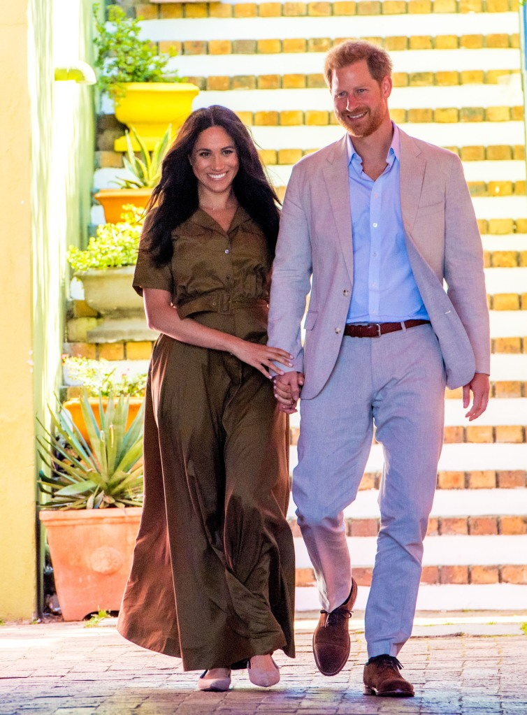NP Cape Meghan Markle, Duchess of Sussex, and Prince Harry ,son Archie