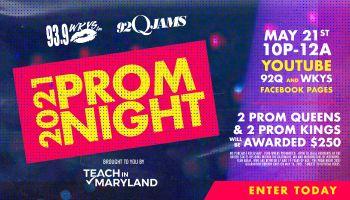 2021 Virtual Prom Contest_RD Baltimore WERQ_RD Washington DC WKYS_April 2021