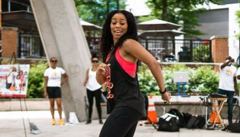 Jackie Paige at the 8th Annual Fit Father's Celebration